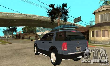 Ford Explorer 2004 para GTA San Andreas vista posterior izquierda