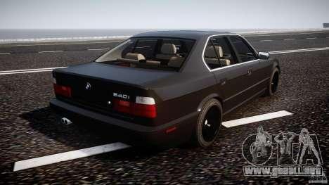 BMW 5 Series E34 540i 1994 v3.0 para GTA 4 vista superior