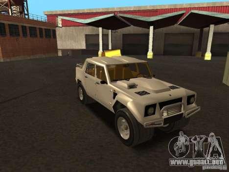 Lamborghini LM-002 para la visión correcta GTA San Andreas