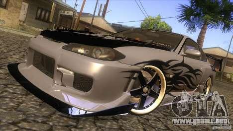 Nissan Silvia S15 Logan para vista lateral GTA San Andreas