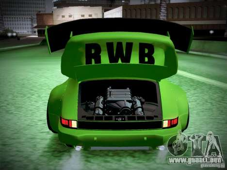 Porsche 911 Turbo RWB Pandora One para la vista superior GTA San Andreas