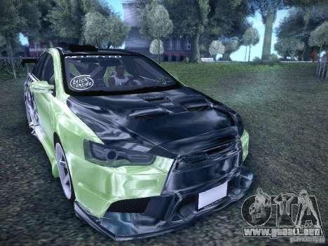 Mitsubishi Lancer Evolution X - Tuning para la visión correcta GTA San Andreas