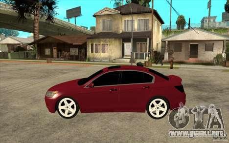 Honda Accord 2008 v2 para GTA San Andreas left