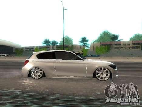 BMW M135i para GTA San Andreas vista hacia atrás