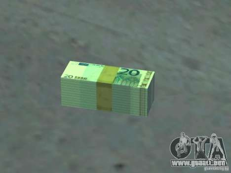 Euro money mod v 1.5 20 euros I para GTA San Andreas