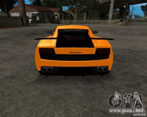 Lamborghini Gallardo LP570 Superleggera para vista lateral GTA San Andreas