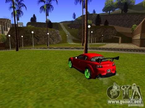 Mazda RX-8 R3 Tuned 2011 para GTA San Andreas vista posterior izquierda