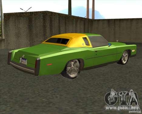 Cadillac Eldorado para vista inferior GTA San Andreas