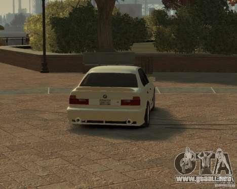 Bmw 535i (E34) tuning para GTA 4 Vista posterior izquierda