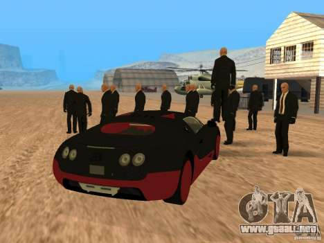 Bugatti Veyron Super Sport para GTA San Andreas left