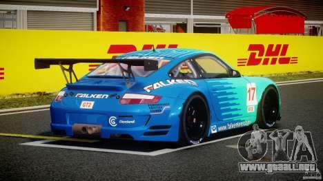 Porsche GT3 RSR 2008 para GTA 4 vista lateral
