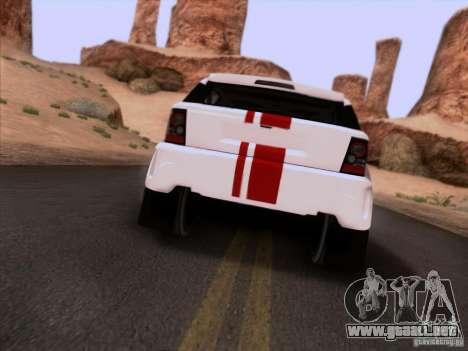Bowler EXR S 2012 para GTA San Andreas vista hacia atrás