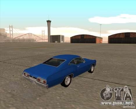 Chevrolet Impala 427 SS 1967 para GTA San Andreas vista hacia atrás