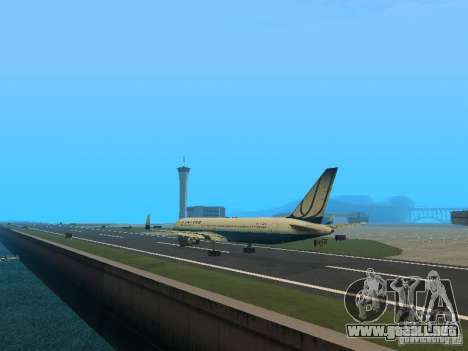 Boeing 767-300 United Airlines New Livery para GTA San Andreas vista posterior izquierda