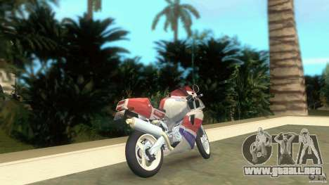 Yamaha FZR 750 white lighted para GTA Vice City vista lateral izquierdo