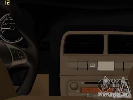 Fiat Linea T-jet para GTA San Andreas vista hacia atrás