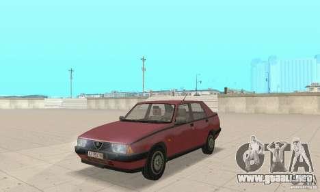 Alfa Romeo 75 para GTA San Andreas