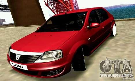 Dacia Logan 2008 para GTA San Andreas vista hacia atrás