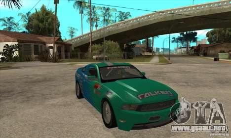 Ford Mustang GT Falken para GTA San Andreas vista hacia atrás