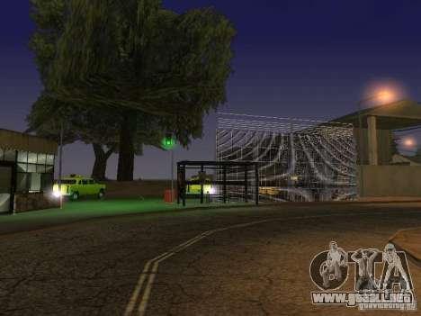El primer taxi Parque versión 1.0 para GTA San Andreas quinta pantalla