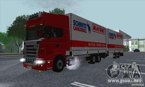 Trailer de Scania R620 para visión interna GTA San Andreas