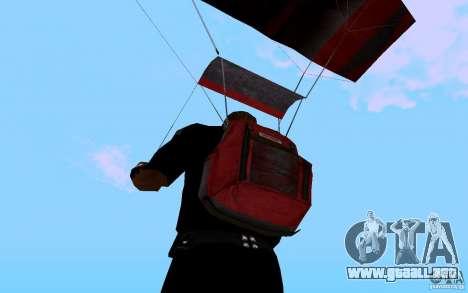 El nuevo paracaídas para GTA San Andreas quinta pantalla