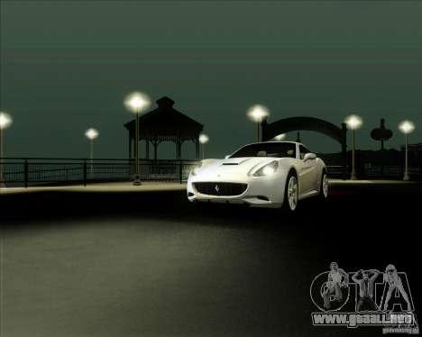 Ferrari California 2009 para la visión correcta GTA San Andreas