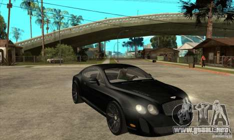 Bentley Continental Supersports para GTA San Andreas vista hacia atrás