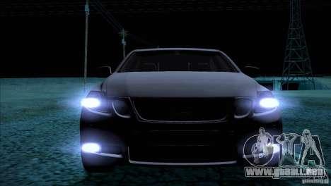 Lexus GS430 para GTA San Andreas vista hacia atrás