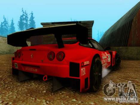 Ferrari 550 Maranello Super GT500 para GTA San Andreas left