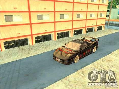 Acura NSX 1991 Tunable para GTA San Andreas vista hacia atrás
