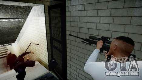 Barrett 98B (francotirador) para GTA 4 quinta pantalla