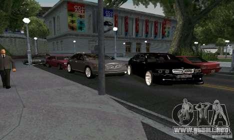 BMW 760LI para GTA San Andreas vista hacia atrás