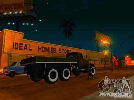 Camión KrAZ desfile para GTA San Andreas left