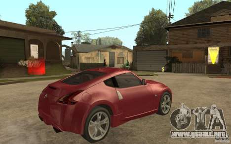 Nissan 370Z 2010 para la visión correcta GTA San Andreas
