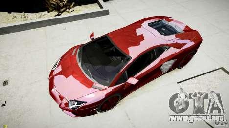 Lamborghini Aventador LP700-4 para GTA 4 vista hacia atrás