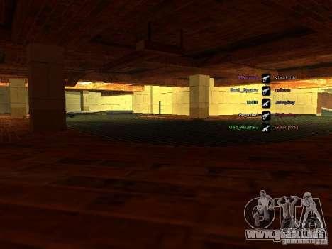 Nuevo garaje para policía para GTA San Andreas segunda pantalla