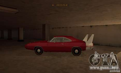 Dodge Charger Daytona 1969 para GTA San Andreas left
