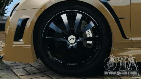 Bentley Continental GT Premier v1.0 para GTA 4 vista desde abajo