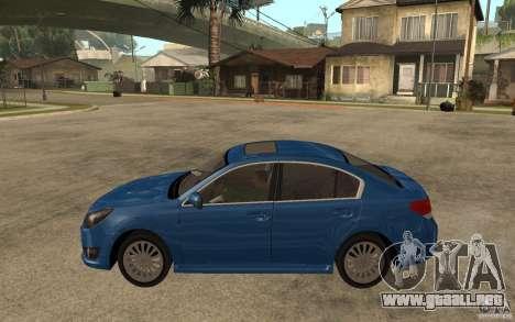 Subaru Legacy B4 2.5GT 2010 para GTA San Andreas left