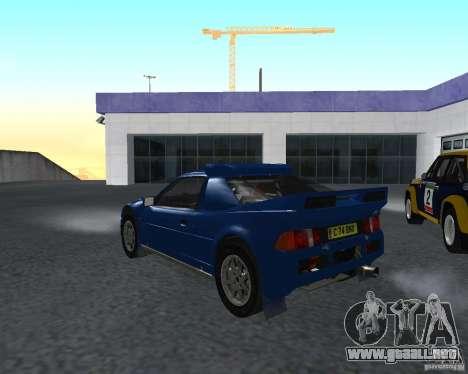 Ford RS 200 para GTA San Andreas vista posterior izquierda