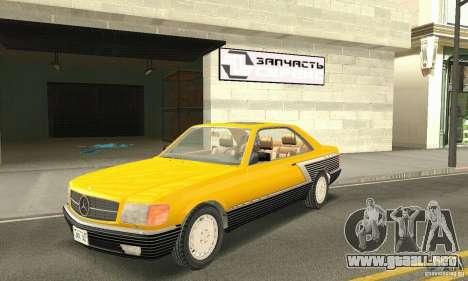 Mercedes-Benz W126 560SEC para la vista superior GTA San Andreas