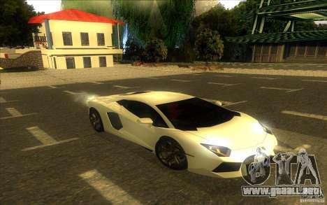 Lamborghini Aventador LP700-4 para vista inferior GTA San Andreas