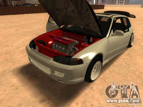 Honda Civic EG6 para GTA San Andreas vista hacia atrás