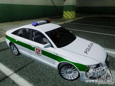 Audi A6 Police para GTA San Andreas left