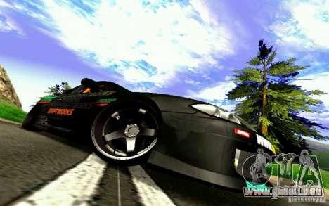 Nissan Silvia S15 Drift Works para la vista superior GTA San Andreas