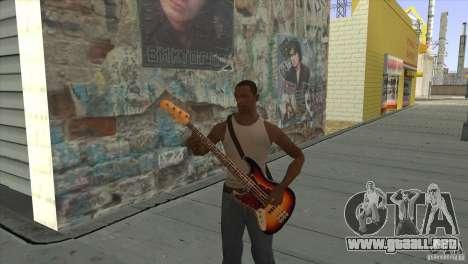 Canciones de la película en la guitarra para GTA San Andreas novena de pantalla