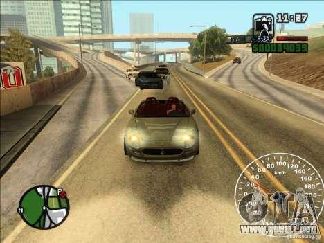 Spyder Cambriocorsa para GTA San Andreas vista posterior izquierda