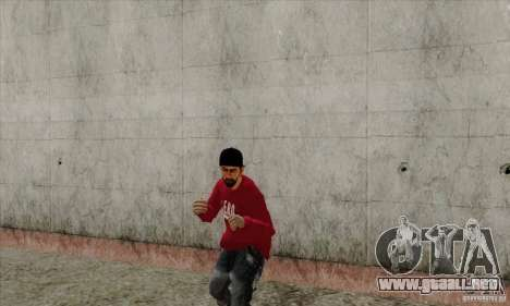 Sustituto de piel Bmyst para GTA San Andreas quinta pantalla