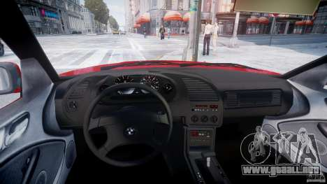 BMW 318i Light Tuning v1.1 para GTA 4 vista hacia atrás